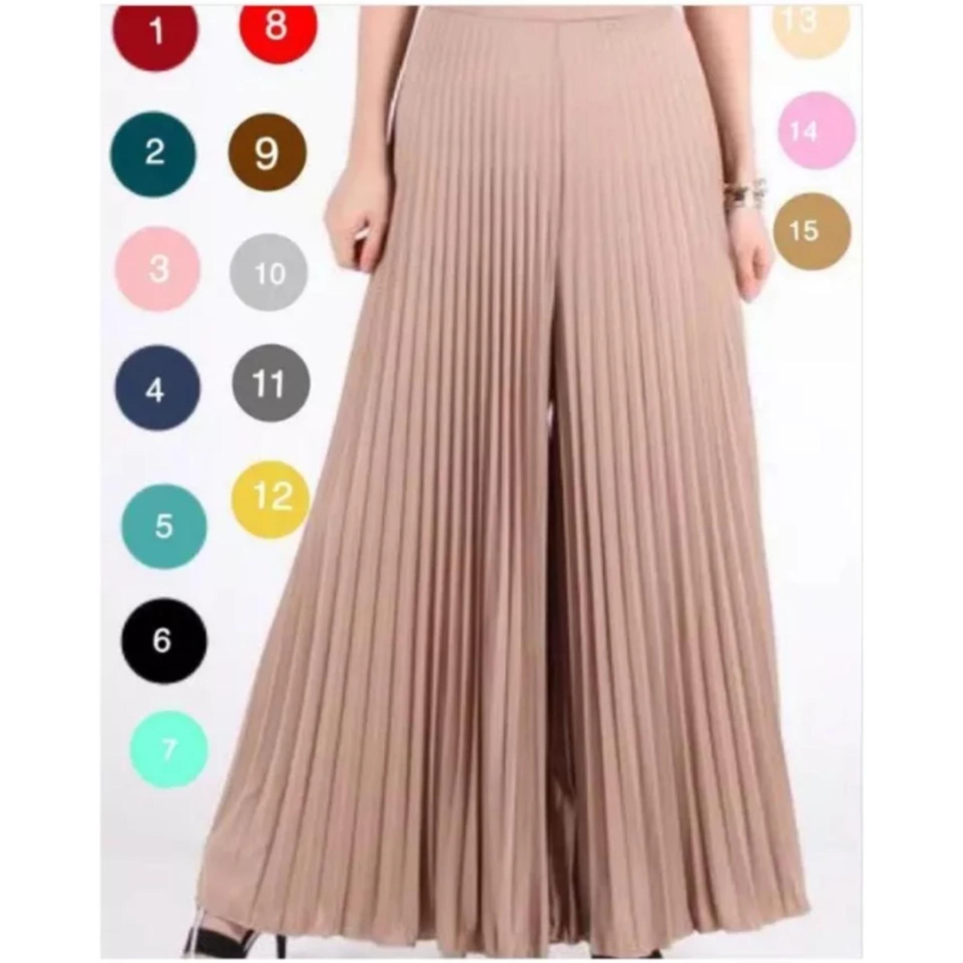 SB Collection Celana Hamil Panjang Rinda Pant Hitam Source · Kulot Plisket