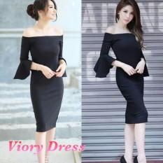 Kyoko Fashion Dress Viory Hitam
