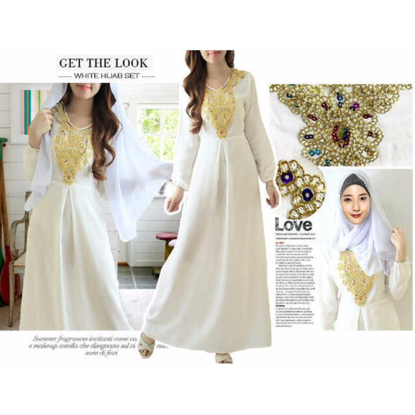 kyoko fashion maxi white dream -(putih)