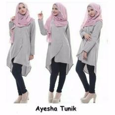 kyoko fashion tunics aesyah - (grey)