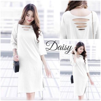 Labelledesign Dissy Daisy Basic Dress - White