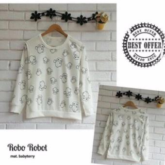 Labelledesign Sweater Robo Robot White