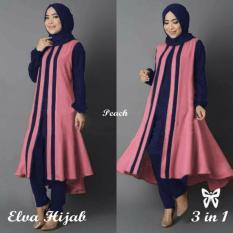 Ladies Fashion Jubah Atasan Elvi / Hijab Muslim / Tunik / Gaun / Jumpsuit Muslim /