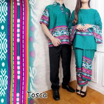 LF Pasangan Setelan Batik Wanita dan Pria   Kemeja Pria Lebaran   Batik  Lebaran Keluarga Gamis 6f17f678f1