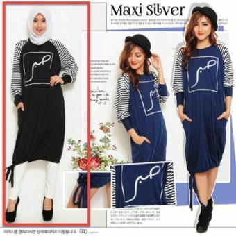 Ladies Fashion Kemeja Tunik Wanita lengan Panjang / Baju terusan / Long Hem / Dress Muslim