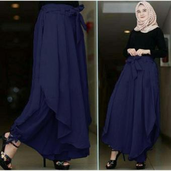 Ladies Fashion [NEW] Celana Kulot Wanita / Long Culotte Pants / Celana Panjang Wanita