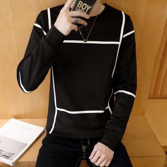 Laki-laki baru leher bulat siswa sweater t-shirt (Tic Tac Toe-