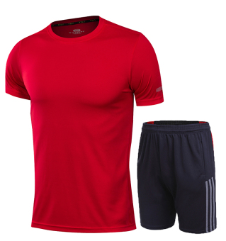 Laki-laki musim panas kebugaran joging bulu tangkis pakaian (5015 abu-abu abu · >>>>