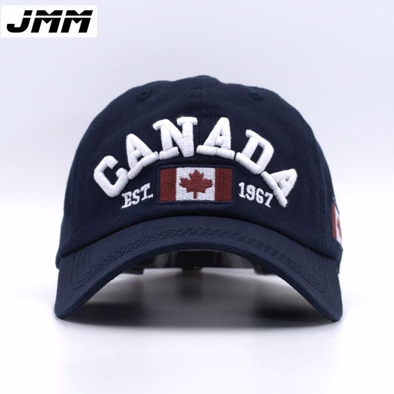 Laki-laki Perempuan Bendera Kanada Topi Snapback Baseball yang dapat disesuaikan Topi .