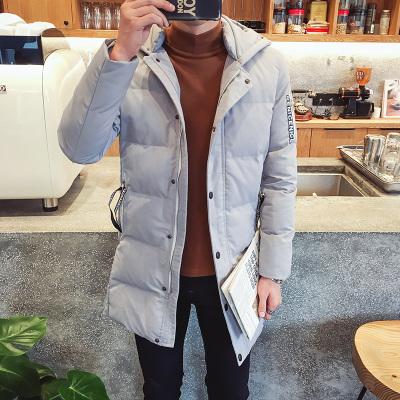 ... Flash Sale Laki laki Setengah Panjang Model Slim Berkerudung Lebih Tebal Jas Musim Dingin Baju Katun