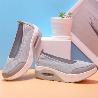Harga LALANG gaya baru Fashion wanita sepatu fitnes kasual (abu abu) International Terbaru klik gambar.
