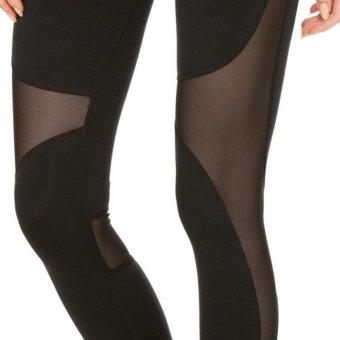 LALANG Yoga Elastic Gym Capris Hollow Out Tight Leggings Sport Fitness Leggings (