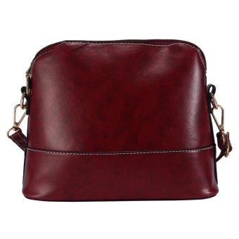 leegoal Womens PU Leather Shoulder Bags Casual Messenger Handbag Burgundy - intl - 5
