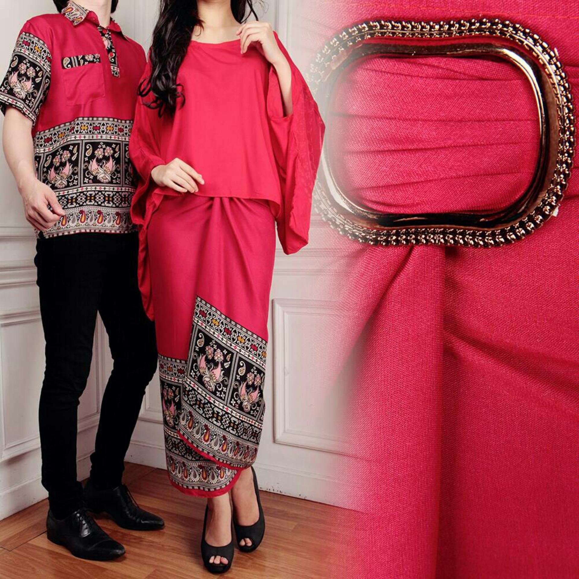 LF Couple Baju Batik Couple Kebaya Kutu Baru Kemeja Pria Modern (namayalu)  7T - d61692dded