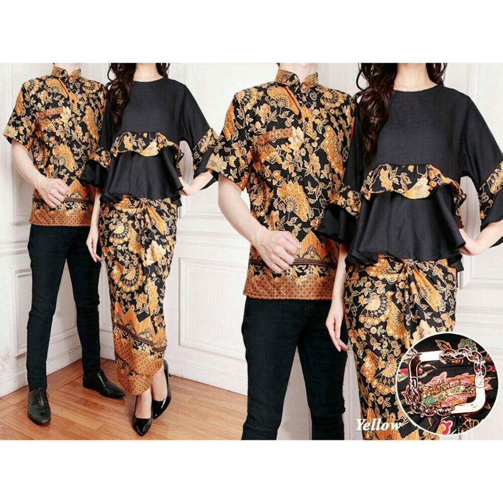 LF Couple Baju Batik Couple Kebaya Kutu Baru Kemeja Pria Modern namayalu 7T