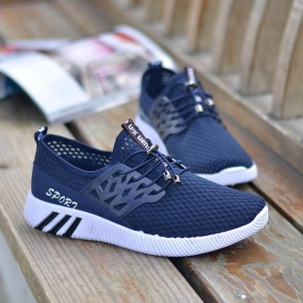 ***Limited Time Offer*** Running Sneakers Men Zapatillas Deportivas Hombre Free Run for Mens Trainers Sports Jogging Homme Lightweight Comfortable Shoes (Blue)