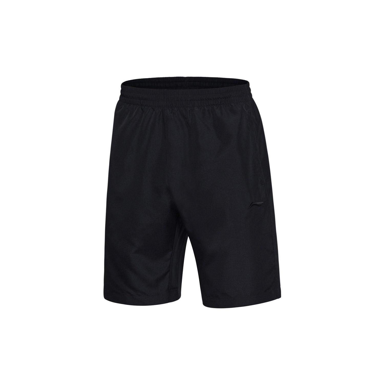 LINING aksm215-1-2 seri kebugaran celana pendek (Hitam)