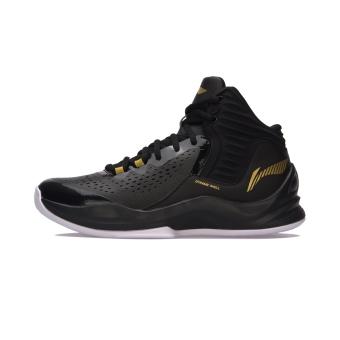 LINING baru redaman dukungan dibungkus sepatu sepatu olahraga sepatu basket (Hitam standar/standar putih)