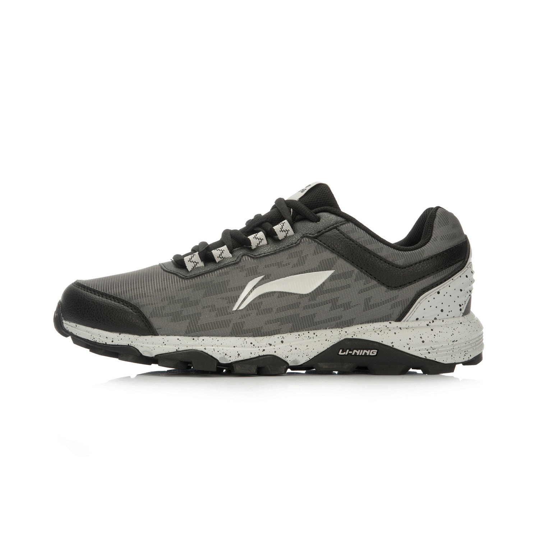 LINING jaringan resmi musim gugur baru pria pria sepatu olahraga sepatu lari  (Abu-abu 33e22a7564