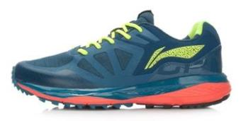 LINING sepatu running sepatu pria (Gelap biru/neon hijau muda)