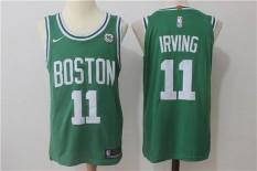 Logo Pria NBA Boston Celtics Kyrie Irving #11 Green Basket Jersey-Intl