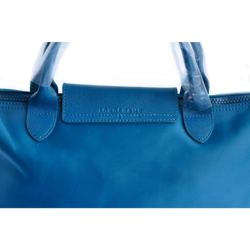 Longchamp Tas Wanita Le Pliage Neo Small Peacock Blue .