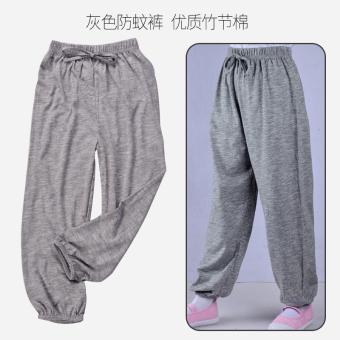 Belanja murah Longgar anak-anak anti nyamuk AC celana panjang (Abu-abu celana