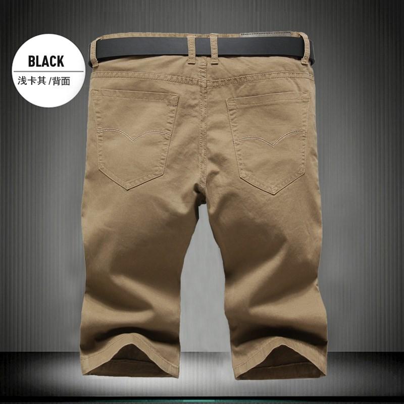 Longgar tipis remaja celana panjang sampai lutut musim panas kasual celana pendek (Jahe kuning 8006