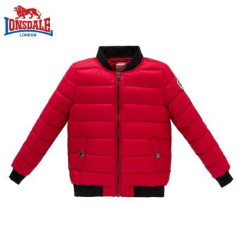 LONSDALE anak-anak baru tipis dan ringan jaket ringan turun (Merah)