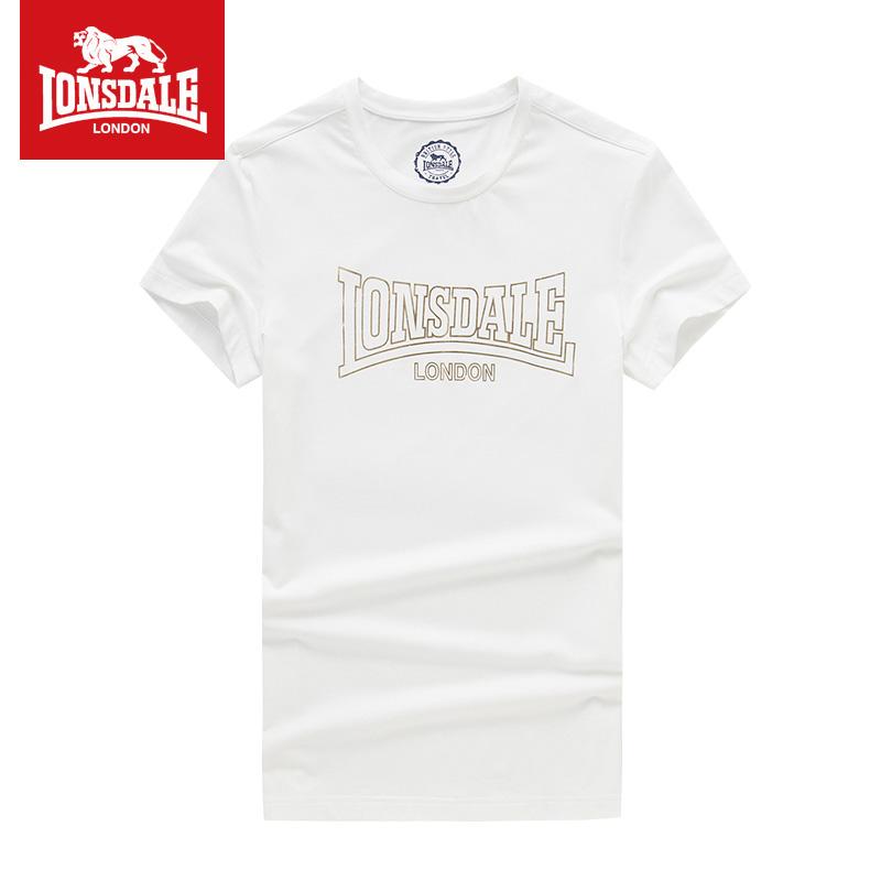 Lonsdale baru pria leher bulat lengan pendek t-shirt (Putih)