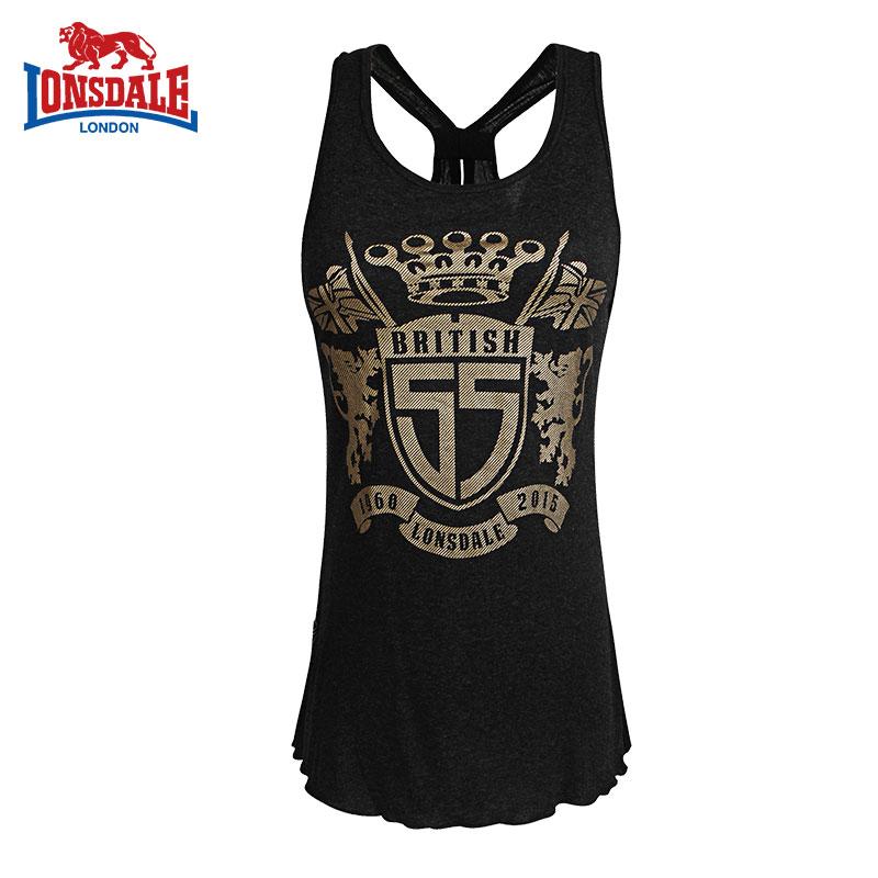 Lonsdale Busana Wanita Slim T-shirt Sling Vest (Hitam benang bunga) (Hitam