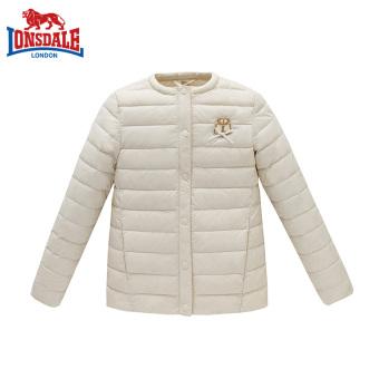 LONSDALE putri tipis musim dingin jaket tebal turun Gadis jaket (Off-white)