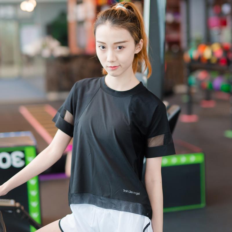 Cheap online LOOESN benang perempuan bernapas jaket pakaian yoga cepat  kering pakaian (Hitam) 79683aa575