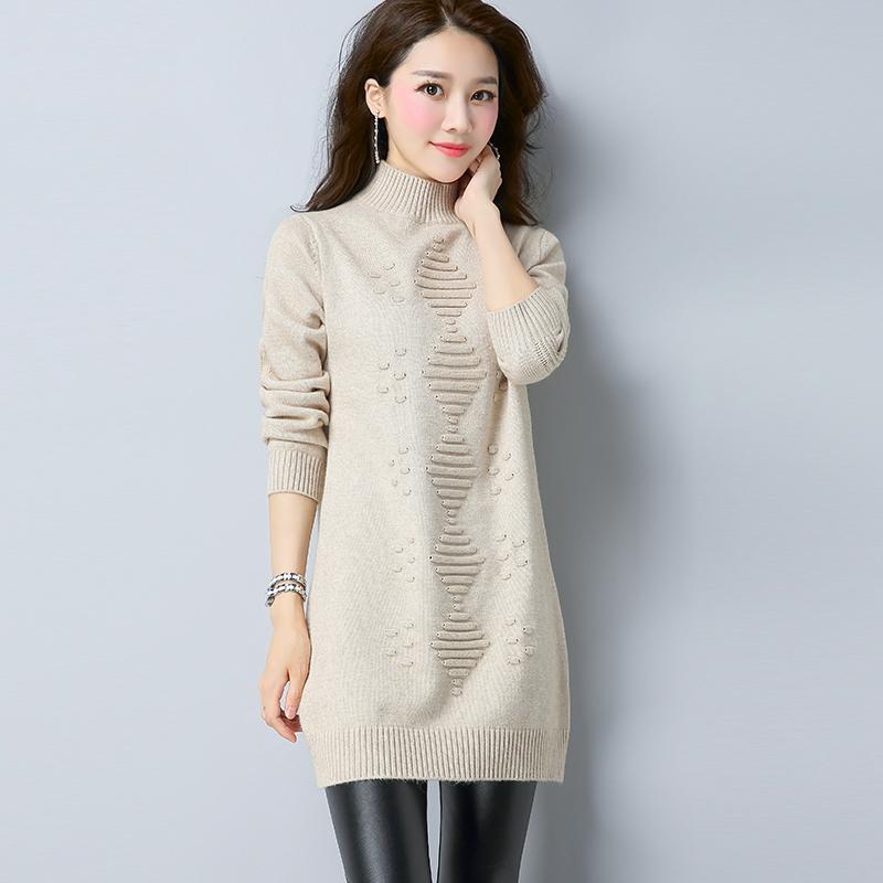 Flash Sale LOOESN Korea Fashion Style merajut pullover perempuan bottoming kemeja Shishang sweater (M unta