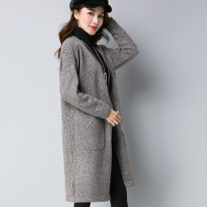 ... kardigan (Merah muda). Source · LOOESN Korea Fashion Style musim gugur baru cardigan pakaian wanita merajut kemeja (MG5302 abu-