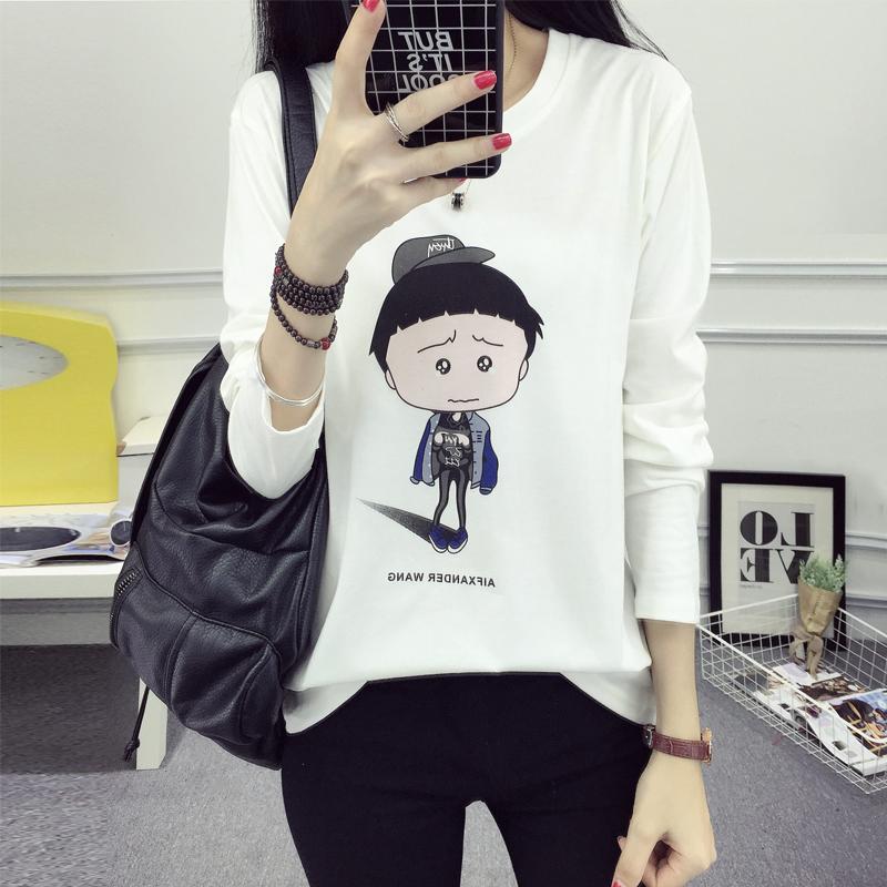 ... Flash Sale LOOESN Korean style autumn New style lettered base shirt T shirt 172 putih