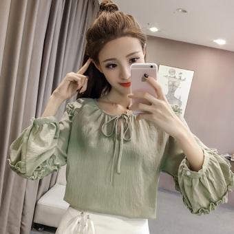 Women Korean style short sleeves T-Shirt. Source ... LOOESN Korean style New style Top Hijau .