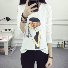 ... LOOESN lettered printed long sleeved t shirt Korean style Top 180
