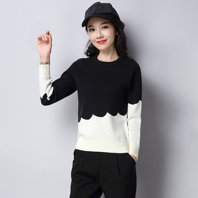 LOOESN lindung nilai Musim Semi dan Gugur baru perempuan Korea Fashion Style kemeja sweater (SZY11716