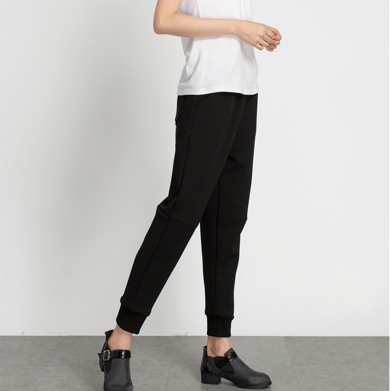 LOOESN New style autumn leg ankle-length pants skinny pants (Hitam)
