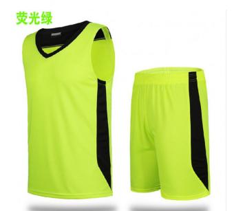 LOOESN pria musim panas berjalan pakaian basket pakaian (Zamrud hijau)