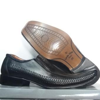 Gambar Louis Visto sepatu pria formal kulit asli model LV 206 Black