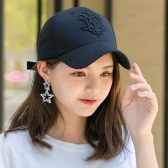 Flash Sale Luar ruangan musim panas perempuan matahari topi topi topi (Serigala Totem hitam) Online murah