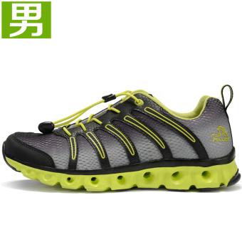 Luar Rumah Tergelincir Bernapas Cepat Kering Sepatu Sepatu Air (Abu-abu)