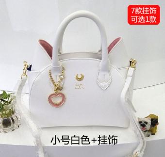 Luna baru Seiwa Sailor Moon tas bahu tas utusan tas (Putih terompet + ornamen)