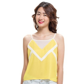 LZD Camisole Top With Binding Detail - Yellow