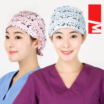 M Eropa dan Amerika kapas dokter dan perawat topi topi (Panda Merah Biru (masker
