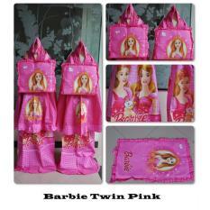 Madeena - Mukena Anak Karakter Barbie Twin - Pink