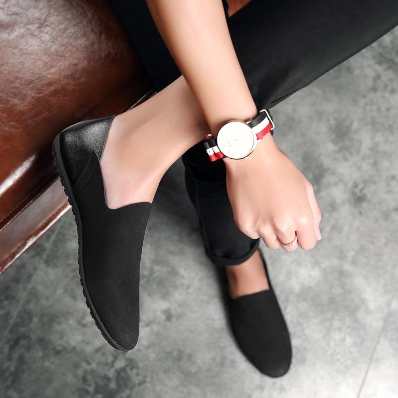 ... Flash Sale Malas Korea Fashion Style pedal mengemudi sepatu pria sepatu  sepatu Peas sepatu Suede hitam 54d8993a02