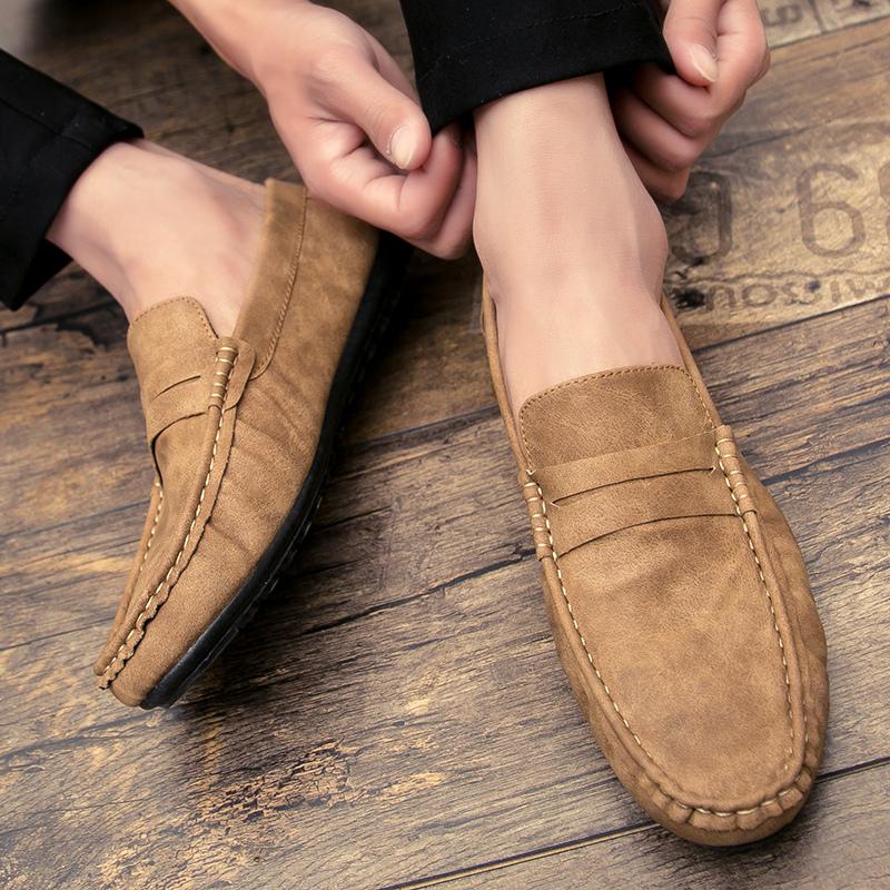 Flash Sale Malas pria Peas sepatu sepatu musim gugur sepatu pria (E58 khaki)